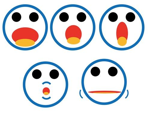 発音練習の表情